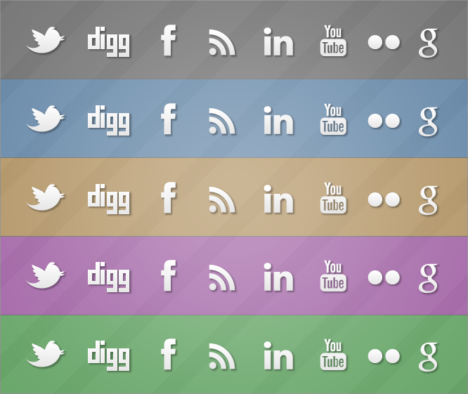 Simple & Social Icon Set (GPL)