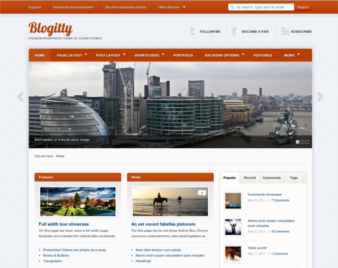 Themes Weekly: Blogitty -- A Magazine & Blog Theme