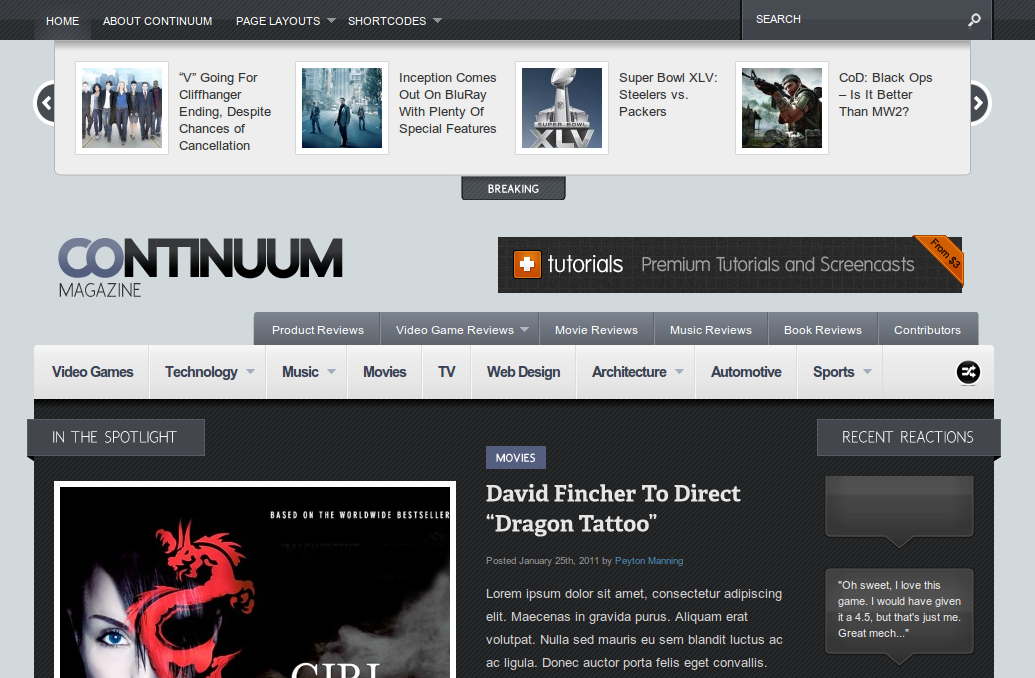 Continuum WordPress Theme