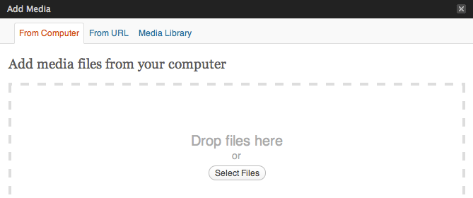 WordPress 3.3 Drop Files Here