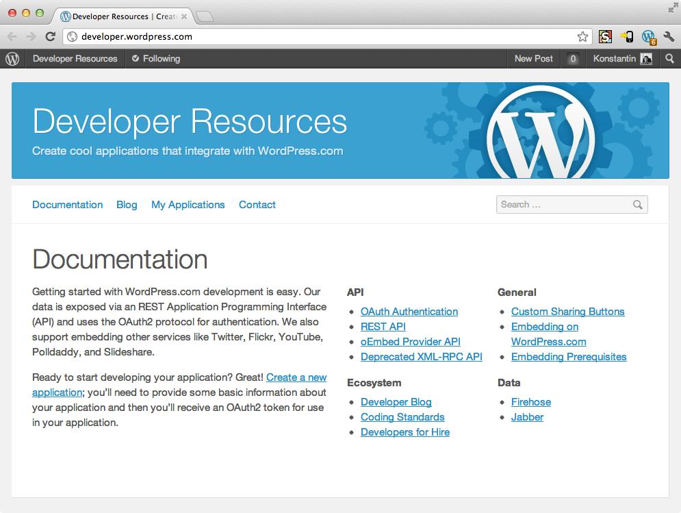WordPress.com Developer Blog