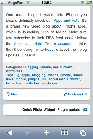 WordPress iPhone wpTouch