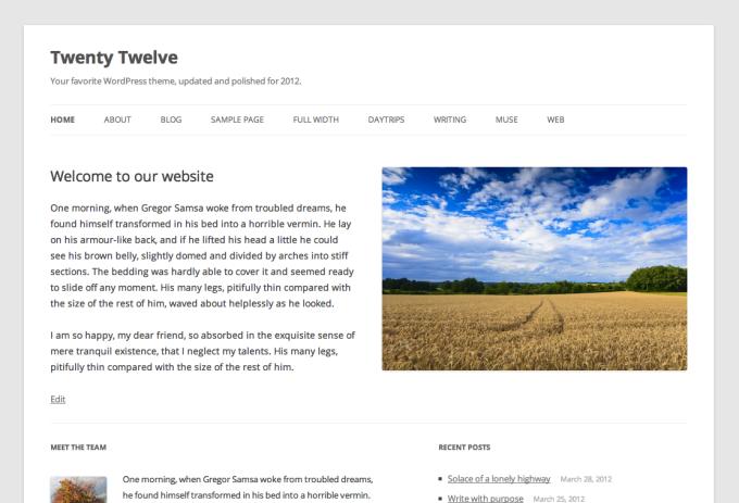 Twenty Twelve for WordPress