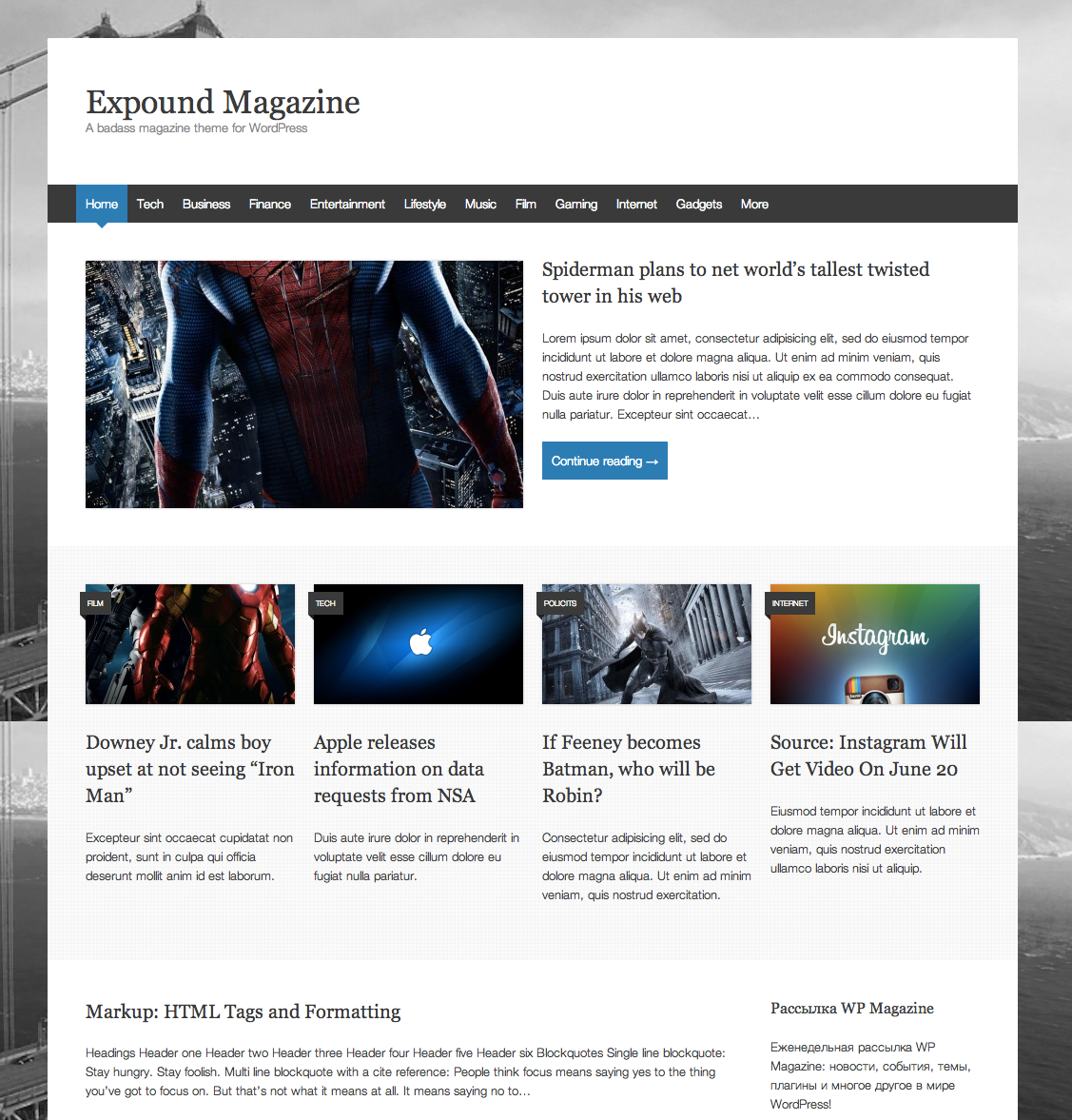 Expound Magazine Theme for WordPress